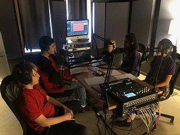 Imagine The Possibilities program students recording at AMPED studio.