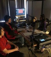Imagine The Possibilities program students recording at AMPED studio.